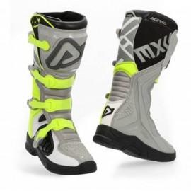 Buty crossowe enduro ACERBIS X-TEAM szaro-żółte fluo