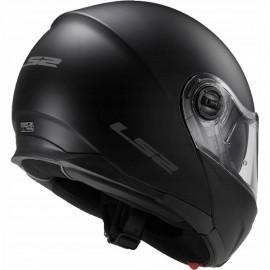 LS2 Strobe kask motocyklowy szczękowy FF325 Solid Black Matt