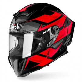 Kask Airoh GP550 S sportowy integralny czarno-czerwony + gratis