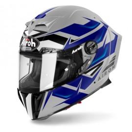 Kask Airoh GP550 S sportowy integralny niebiesko-szary + gratis