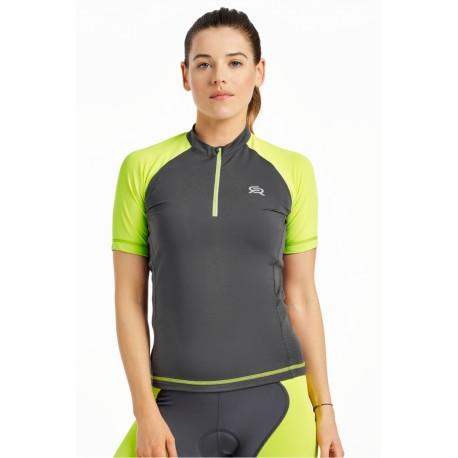 Damska koszulka rowerowa MOBILE TEE zielona