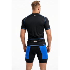 Męska koszulka Rowerowa CROSS SX niebieska