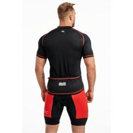 Męska koszulka Rowerowa CROSS SX czerwona