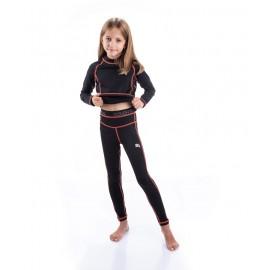 Dziecięca bielizna termoaktywna LOLA czarny/koral