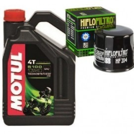 MOTUL olej 5100 10W40 Filtr HF204 Kawasaki Honda