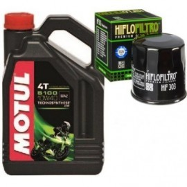 MOTUL olej + oiltr HF303 Yamaha XJ R1 R6 YZF FZR
