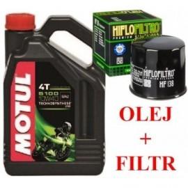 MOTUL olej 5100 10W40 filtr HF138 Kawasaki Suzuki