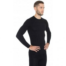 BRUBECK ACTIVE WOOL wełna MERINO męska bluzka
