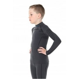 BRUBECK Bluza Junior Męska THERMO Grafit