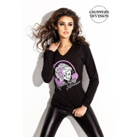 Choppers Division BLUZKA Skull Lady