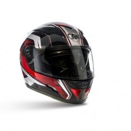 THH TS-80 integralny sportowy kask motocyklowy czerwony z blendą przeciwsłoneczną TS80