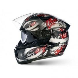 THH TS-80 Mummy integralny sportowy kask motocyklowy czerwony red z blendą przeciwsłoneczną