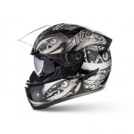 THH TS-80 Mummy integralny sportowy kask motocyklowy srebrny silver z blendą przeciwsłoneczną