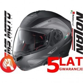 Nolan kask motocyklowy N104 Absolute Tech N-Com Flat Black czarny