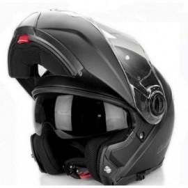 LS2 Strobe kask motocyklowy szczękowy FF325 Solid Black czarny Blenda