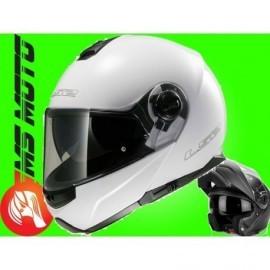 LS2 Strobe kask motocyklowy szczękowy FF325 Solid White Biały Blenda