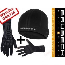 BRUBECK zestaw czapka termiczna HM10080 + rękawiczki GE10010