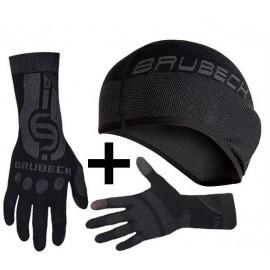 BRUBECK zestaw czapka termiczna HM10020 + rękawiczki GE10010