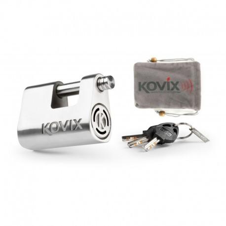 Kovix KBL-12 kłódka z alarmem ze stali nierdzewnej 120bB + etui