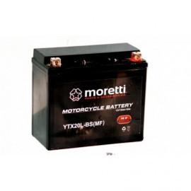 Moretti Akumulator AGM Żelowy 12V 18Ah YTX20L-BS