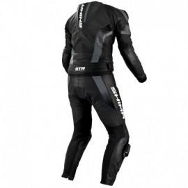 Shima STR męski dwuczęściowy skórzany kombinezon motocyklowy czarny