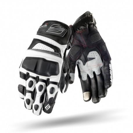 Shima XRS białe sportowe męskie rękawice motocyklowe