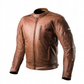 Shima HUNTER męska skórzana kurtka motocyklowa brązowa
