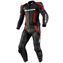 Shima STR męski dwuczęściowy skórzany kombinezon motocyklowy czarno czerwony
