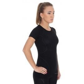 BRUBECK ACTIVE WOOL wełna MERINO damska bluzka czarna