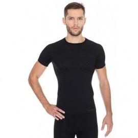 BRUBECK ACTIVE WOOL wełna MERINO męska bluzka czarna
