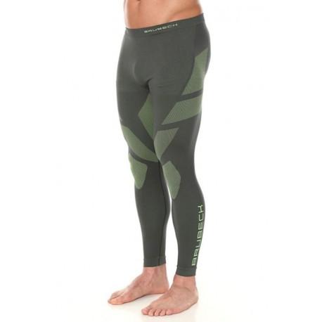 Brubeck Dry spodnie męskie z długą nogawką LE11860 grafit limonka