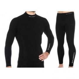 BRUBECK Extreme Wool Bielizna Termo komplet czarny
