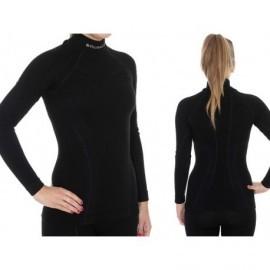 BRUBECK EXTREME WOOL MERINO damska bluza czarna