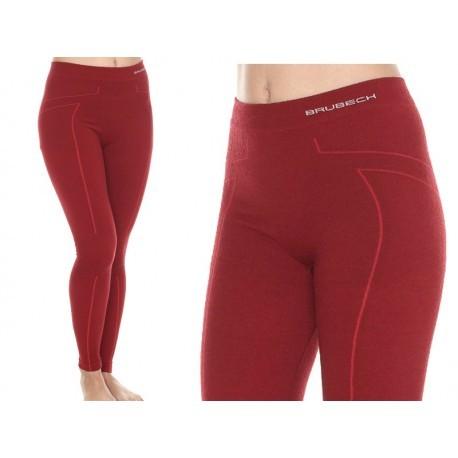 BRUBECK EXTREME WOOL MERINO damskie spodnie burgund