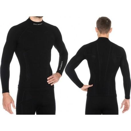 BRUBECK EXTREME WOOL MERINO męska bluza czarna