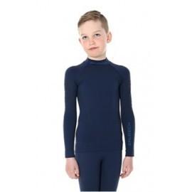 BRUBECK Spodnie Bluza termoaktywna Junior granat