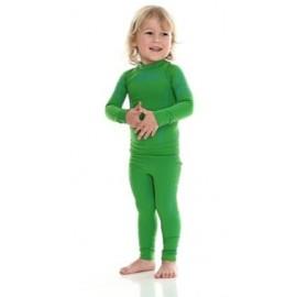 Brubeck Zielone Spodnie Chłopięce THERMO