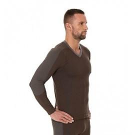 Koszulka męska Piżama COMFORT NIGHT kawowy