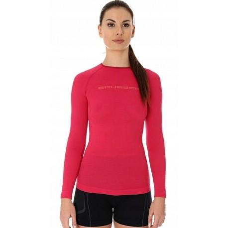 BRUBECK 3D Run PRO bluzka damska malinowa