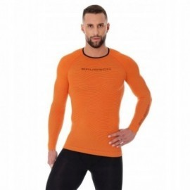 BRUBECK 3D Run PRO bluzka męska pomarańczowa