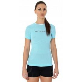BRUBECK 3D Run PRO koszulka damska błękitna