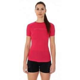 BRUBECK 3D Run PRO koszulka damska malinowa