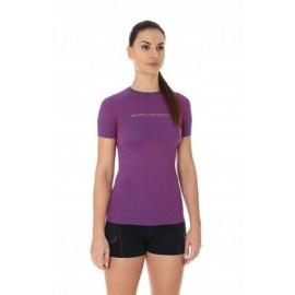 BRUBECK 3D Run PRO koszulka damska purpurowy