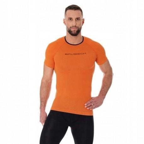 BRUBECK 3D Run PRO koszulka męska pomarańczowa