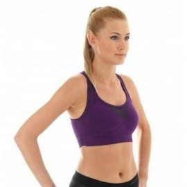 BRUBECK ATHLETIC CROP top FITNESS fioletowy