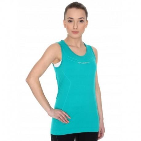 BRUBECK ATHLETIC koszulka damska zieleń lazurowa