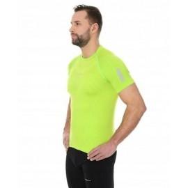 BRUBECK ATHLETIC męska koszulka neon zielony