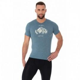 BRUBECK OUTDOOR WOOL męska koszulka stalowa