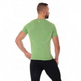 BRUBECK OUTDOOR WOOL męska koszulka zielona
